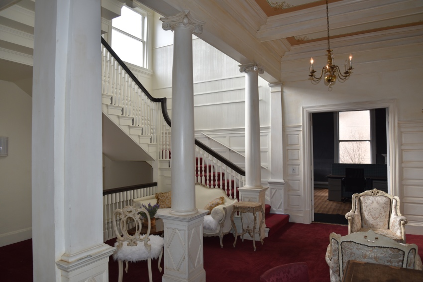entry room and stairs
