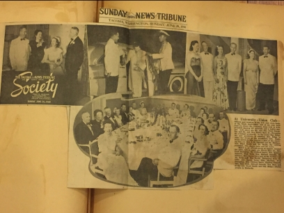 Union Club Anniversary Ball News Tribune 1948